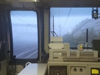 濃霧でもいつものスピード
