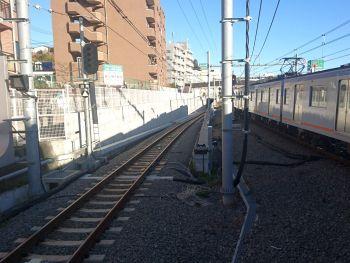 西谷駅から直通線へ