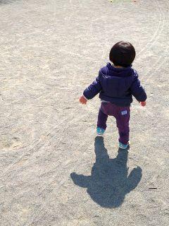 公園を闊歩