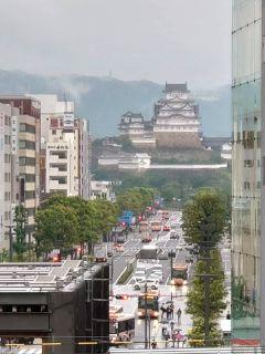 姫路城はホームから