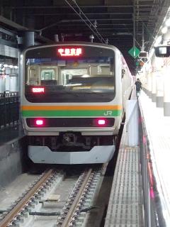 今日も上野駅・下のホームから
