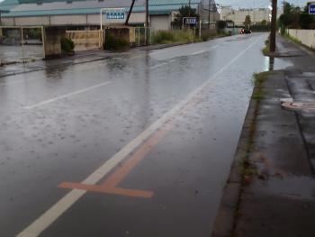 道路が水浸し