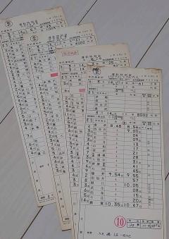 運転士用の時刻表