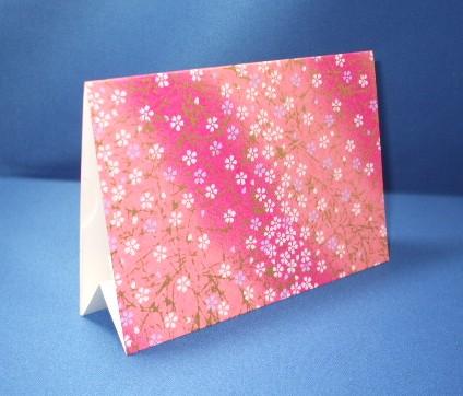 和風フォトスタンド(しおり型メッセージカード、封筒付)の試作品(裏側)