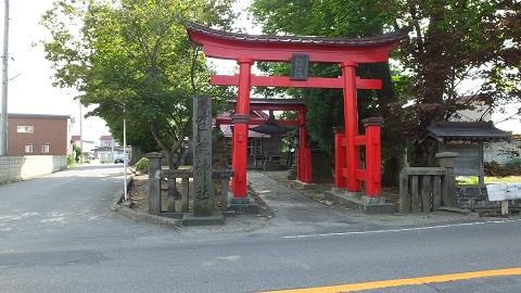 田舎館役場のすぐ近くにある生魂神社