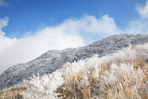 中腹展望台から見る沓掛山