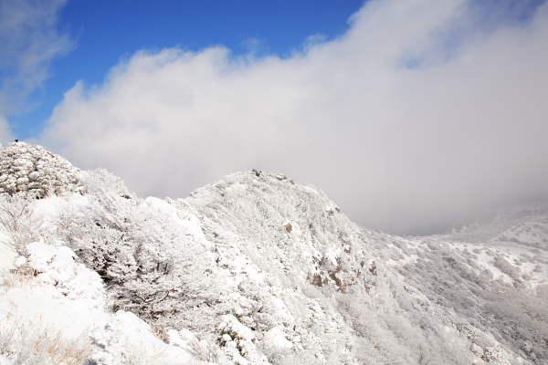 雪景色の沓掛山頂