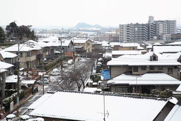雪景色のご近所