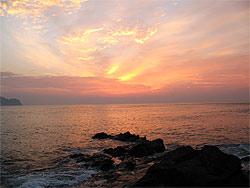 熊本県 大矢野 野釜島の夕焼け