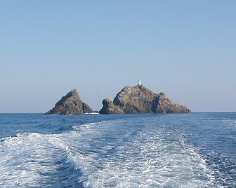 船上から見た先ノ瀬礁群