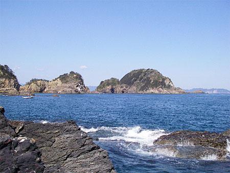 カンノンから見た小間島