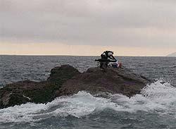 沖ノ瀬三角に上がった釣り人
