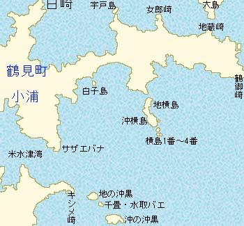 米水津の磯略図