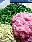 豚肉、韮、生姜