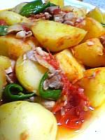 ジャガ芋のトマト煮