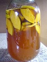 蜂蜜に漬けて、4日目