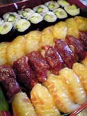 信州名物「馬刺し」の握り寿司