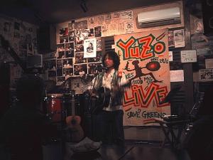 4月17日、ライブハウス「ふぉの」にて (飯田)