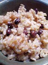 小豆(あずき)入りの玄米ご飯