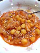 「ひよこ豆のトマトソース煮」