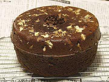 「ジンジャーブレッドケーキ」の焼き上がりです!