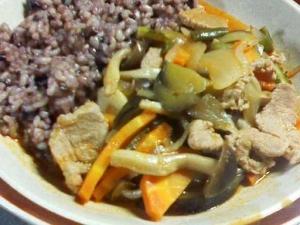 黒米入り玄米ご飯に合います!