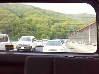 恵那山トンネル前の渋滞