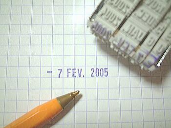 フランス版日付スタンプ