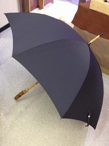 傘修理の完成
