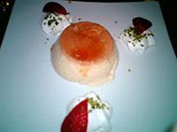 京橋のボエムでD嬢と夕食、〆のデザートはプリン