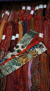 工房朋,市松人形,明治時代の帯