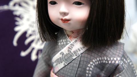 工房朋,市松人形,古裂