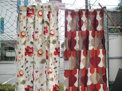 今日のカーテン