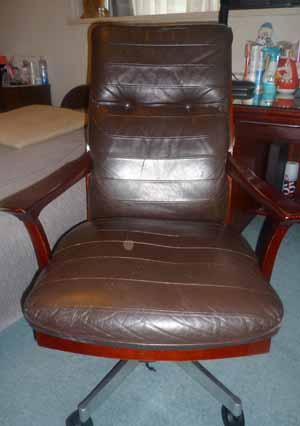 椅子張替え前 後ろ