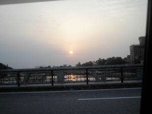 夕日です。きれい。