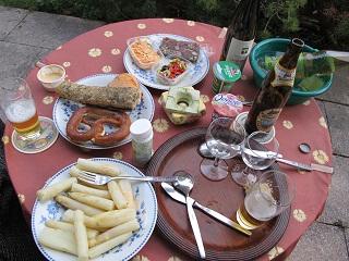 240428ミッテンヴァルトの夕食
