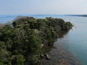 20140420ツインブリッジ下の島