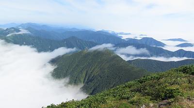 20150809楽古岳から日高山脈