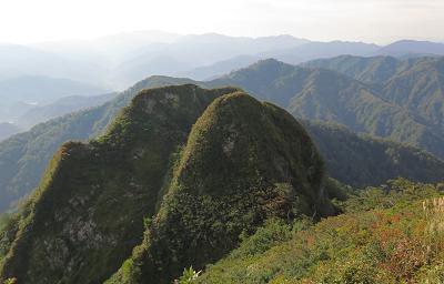 20150923摩耶山から朝日連峰