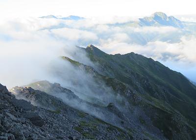20150823白峰南嶺の雲