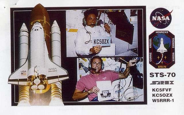 スペースシャトル・ディスカバリーとの交信証明書