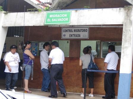 グァテマラとエルサルバドルの国境の風景