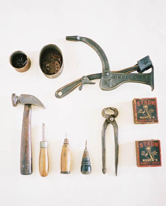 アンティーク 靴の修理道具一式. Shoe repair Equipment \u0026 Tools
