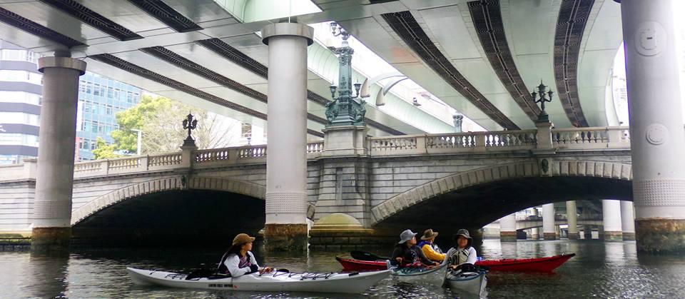 運河運ツアー、カヤック