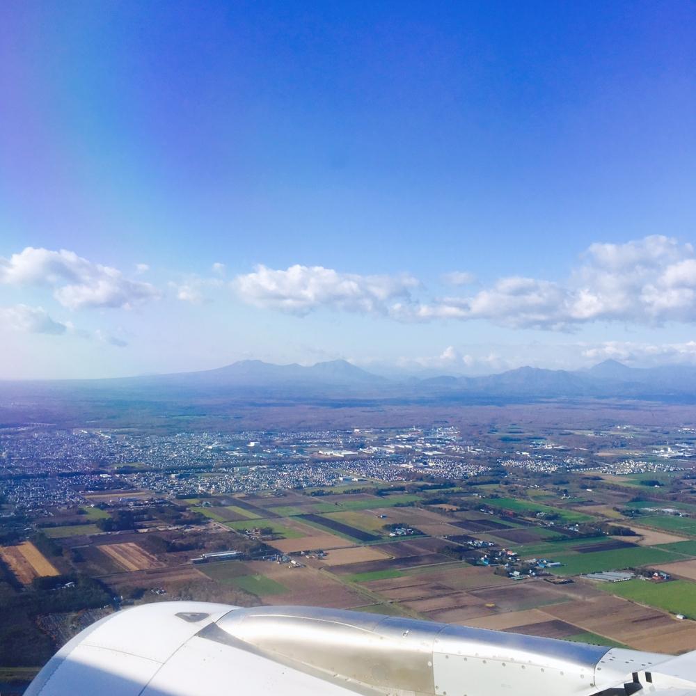 【JULICA ジュリカ】スワロフスキーリングをつけて札幌へ。美しい上空写真。