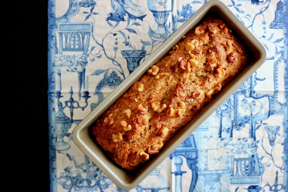 【JULICA ジュリカ】YURIKAS KITCHEN - BANANA CAKE. ユリカズキッチン・バナナパウンドケーキ。JULICA's designer's French-Japanese recipes.