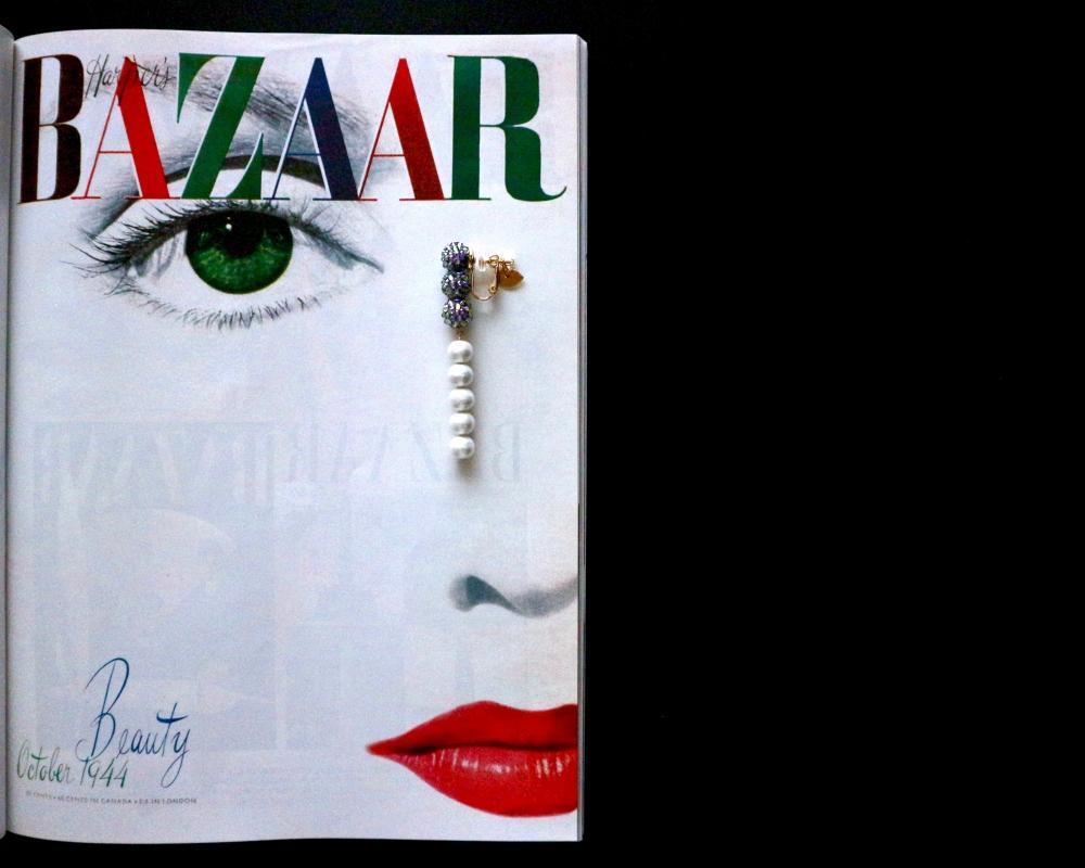 【JULICA ジュリカ】スワロフスキーイヤリング「グラビティ」Harper's Bazaar