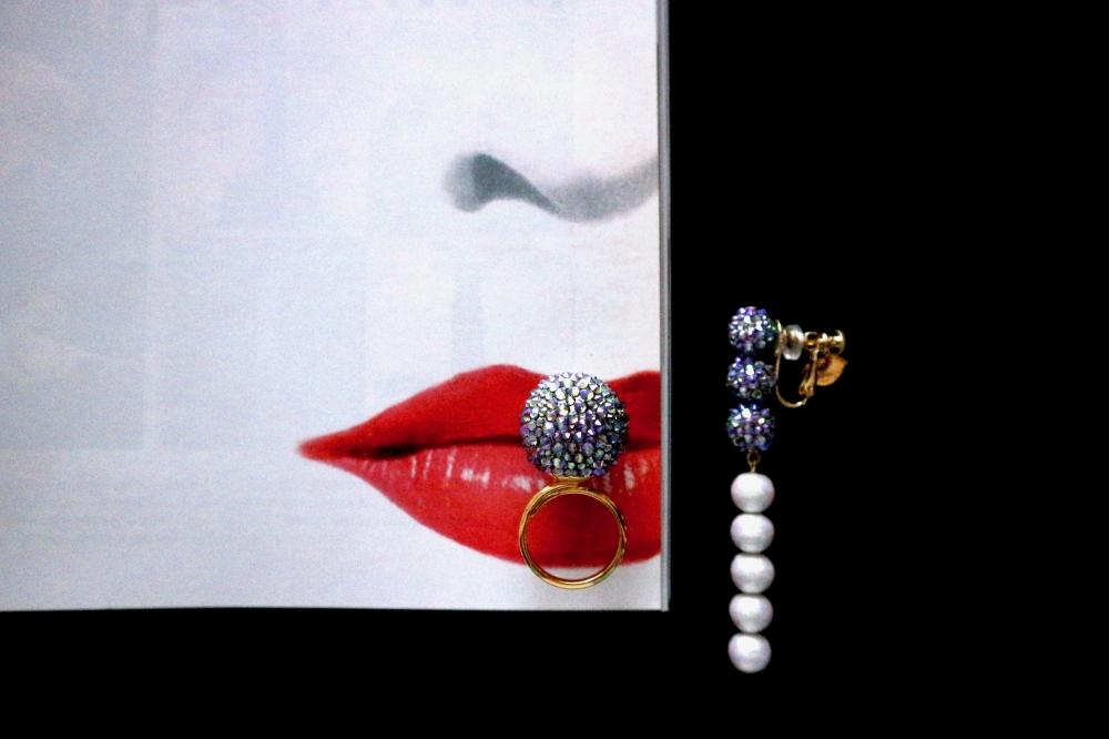 【JULICA ジュリカ】スワロフスキーリング「ザ・ボンボン」Harper's Bazaar