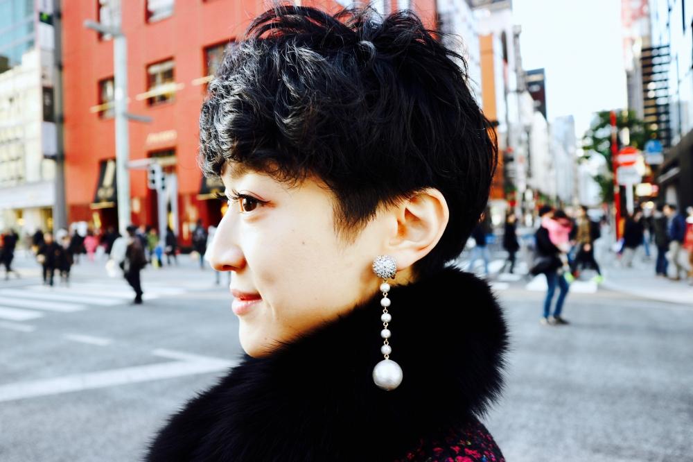 【JULICA ジュリカ】ジュエリーデザイナーゆり香のジュエリー&ファッションコーデ。銀座にて。