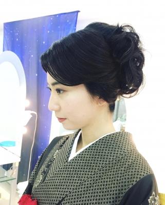 大島紬 着付 美容室ピチカート